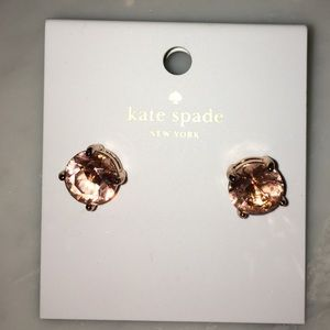 Kate Spade♠️ 🌸Rose gold & light pink earrings